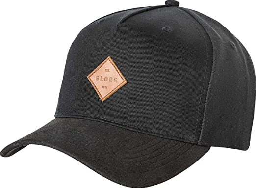 2d370699007 Image Unavailable. Image not available for. Color  Globe Black Gladstone Ii  Curved Peak Snapback Cap (Default ...