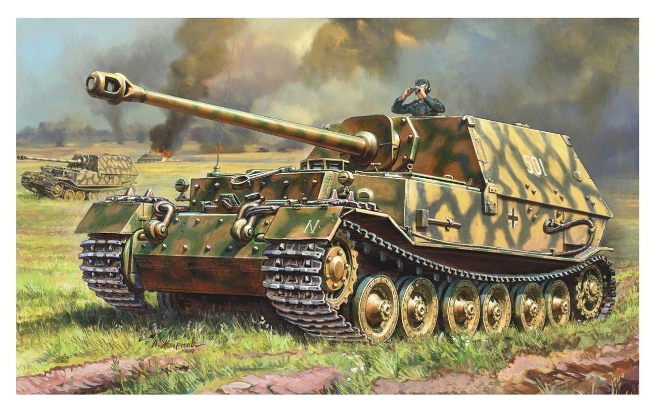 1//72ND SCALE 3D PRINTED WW II GERMAN ELEFANT FERDINAND HEAVY TANK DESTROYER