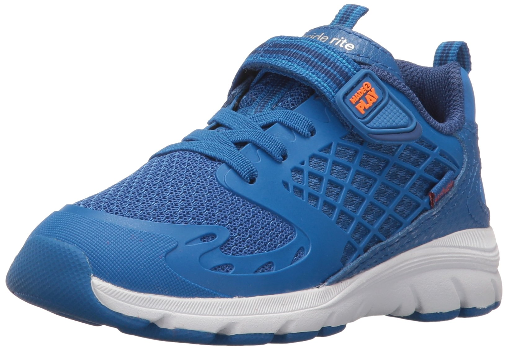 Stride Rite Made 2 Play Breccen Hook & Loop Sneaker (Toddler/Little Kid), Blue, 4 M US Toddler