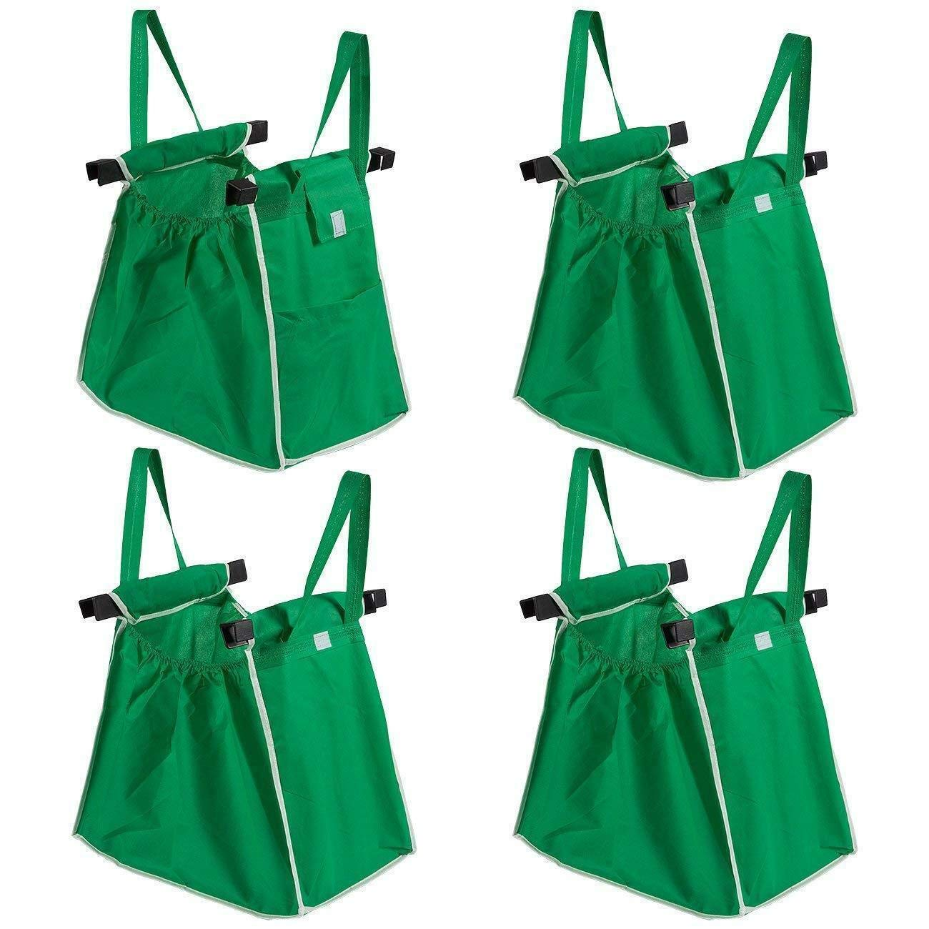 Lovely999 New 4 pcs Grocery Shopping Bag Foldable Tote Eco-Friendly Reusable Carrier Bags 2 Adjustable Strong Straps for Heavy Duty.Allowing Shoppers to Feel Smart and Confident.