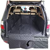 Ginntiona Dog Pet Car Seat Cover Waterproof Washable Hammock Protection for Cars SUV and Truck NonSlip Backing with Anchors with Pockets with Seatbelt