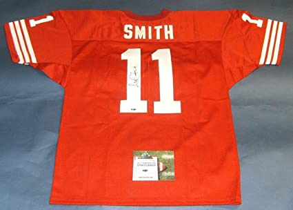 ALEX SMITH AUTOGRAPHED SAN FRANCISCO 49ERS JERSEY AASH READ NOTE at ... a43cafe84