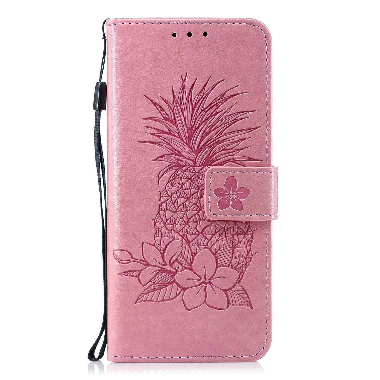 The Grafu® Coque Portefeuille pour Samsung Galaxy S8, Housse en Cuir de Protection avec Emplacements pour Cartes et Monnaie, Anti Rayures Support Coque, Rose