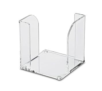 2 gestufte F/ächer Glasklar 1952005 Maul Acryl Kartenst/änder Eleganter Tischorganizer