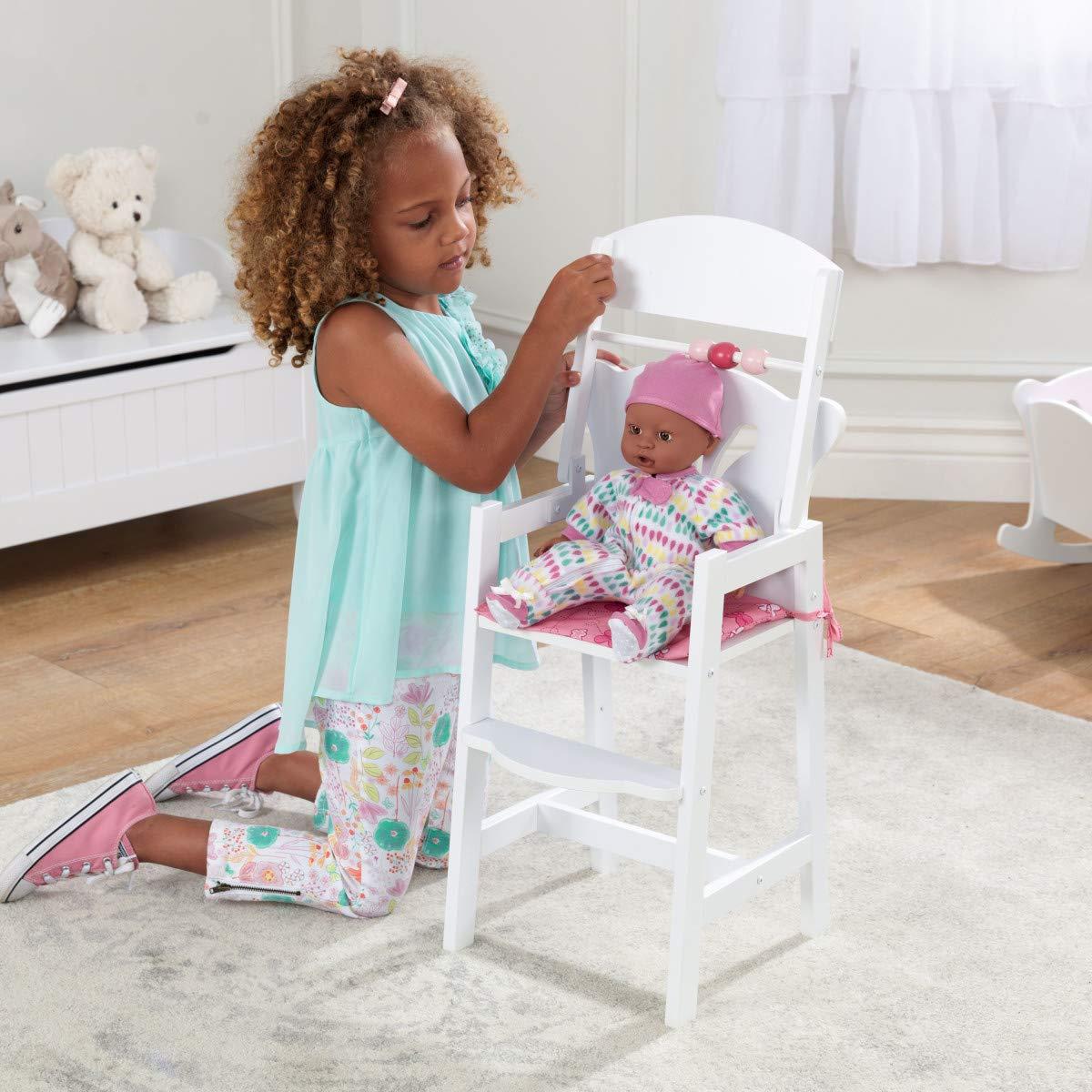 Puppenwiege und Puppenhochstuhl KidKraft Puppenm/öbel-Set Lillie aus Holz Puppenschrank