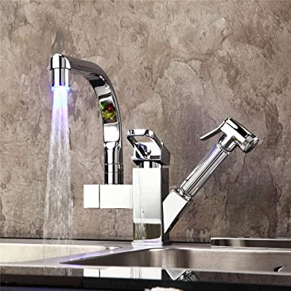 Amazon.com: LHbox Tap Sprayer Spout Kitchen Faucet led ...
