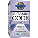 Garden of Life Vitamin Code Raw Prenatal Multivitamin, Whole Food Prenatal Vitamins with Iron, Folate not Folic Acid, Best Vegetarian Gluten Free Prenatals for Women, 30 Capsules *Packaging May Vary*