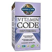 Garden of Life Vitamin Code Raw Prenatal Multivitamin, Whole Food Prenatal Vitamins...