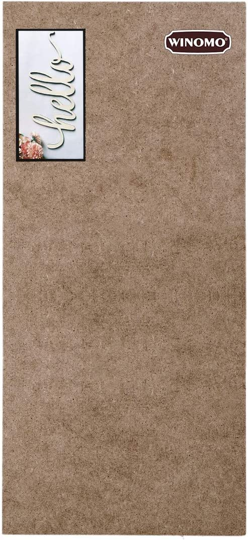 Vosarea WINOMO Letra de Madera Hola Sin terminar Cartel de Madera Hello Pared Decoraci/ón de Arte 30.5x12.7x0.4cm