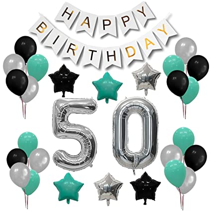 Turquoise 50th Birthday Decorations