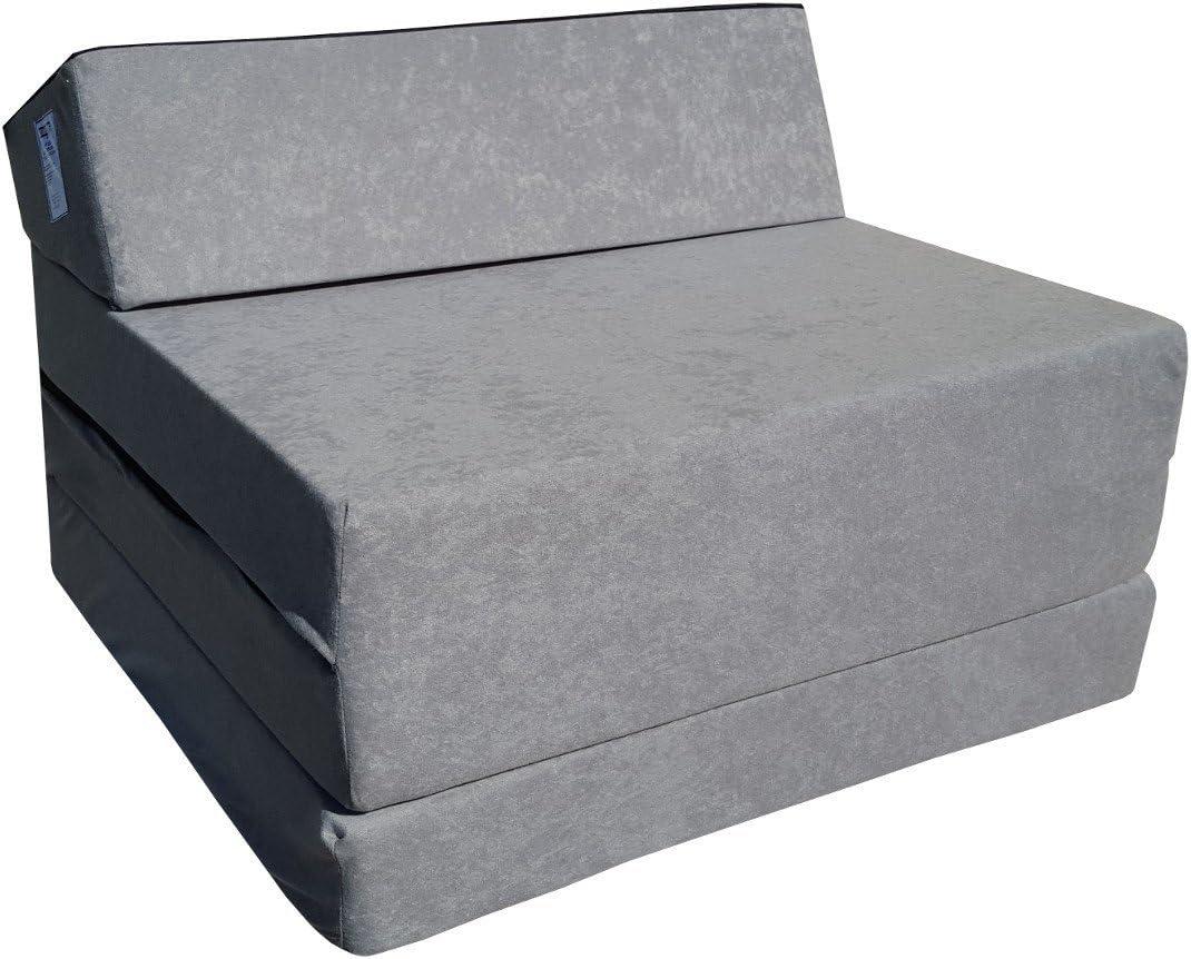 Natalia Spzoo Colchón Plegable Cama de Invitados colchón de Espuma 200x70 cm FM (Gris)