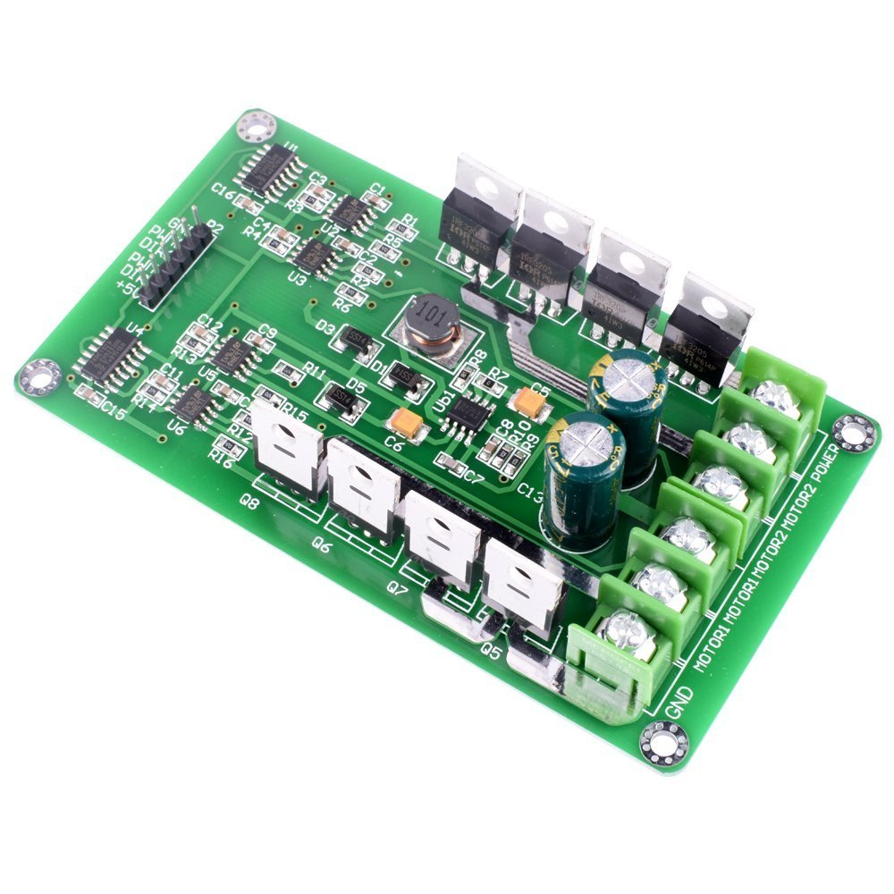 Dual Motor Driver Board for Arduino Robot,Quimat 3-36V/15A H-Bridge DC Motor Driver PWM Module Circuit Board for Smart Car Robot by Quimat