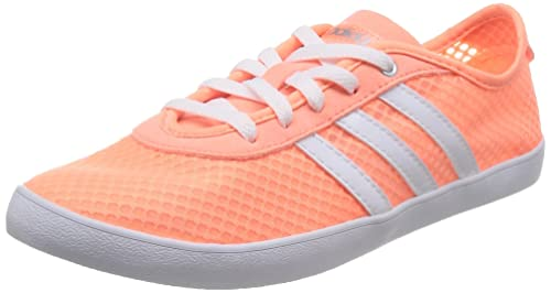 best website 28ef8 70c59 Adidas Womens Vs Qt Vulc Sea W Sunglo, Ftwwht and Msilve Sneakers - 4 UK