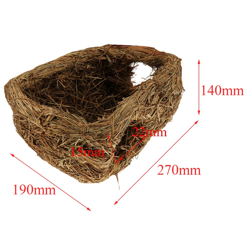 Homyl Pet Hamster Grass Nest House Squirrel Nest Bed Hut Cave Cage Accessories