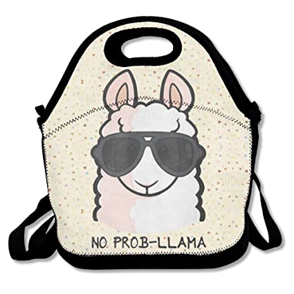 95f3b4bf6404 No Prob- Llama Waterproof Lunch Tote Bag Portable Picnic Lunch Box Lunch  Pouch