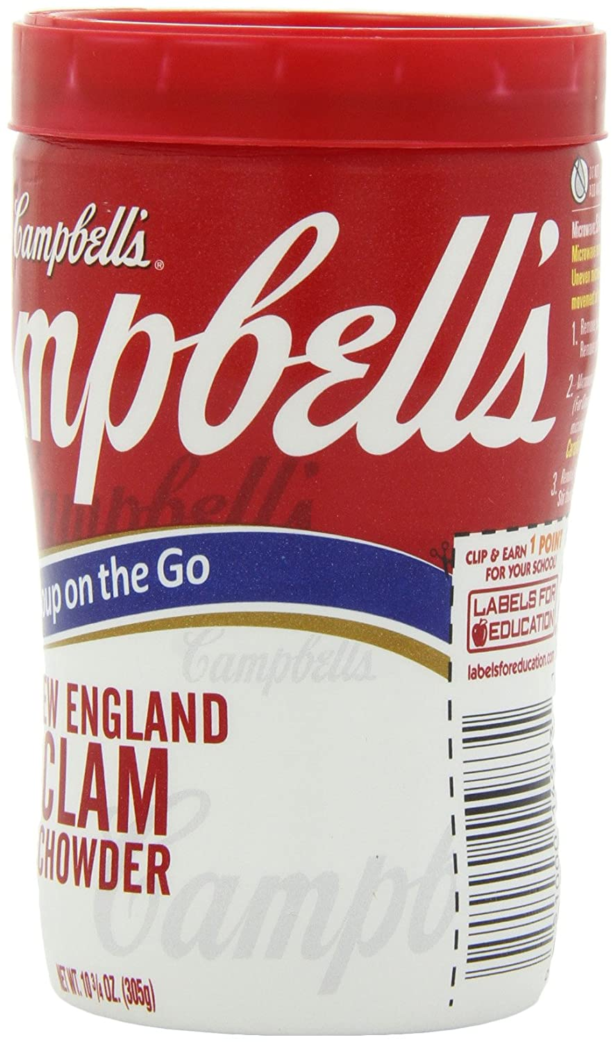 Amazoncom Campbells New England Clam Chowder Soup on the Go