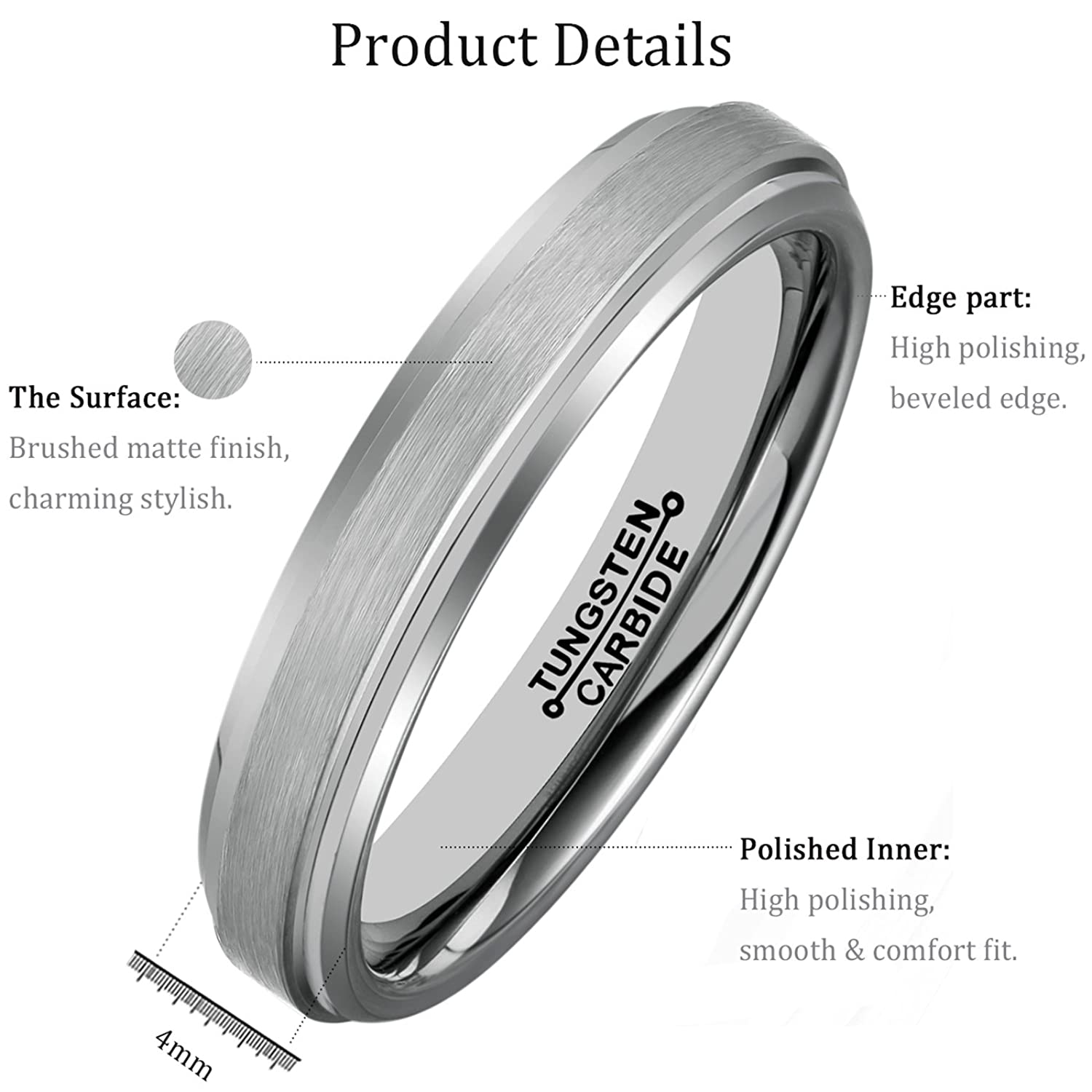 platinum men beaverbrooks mens context brushed ring wedding the s p large