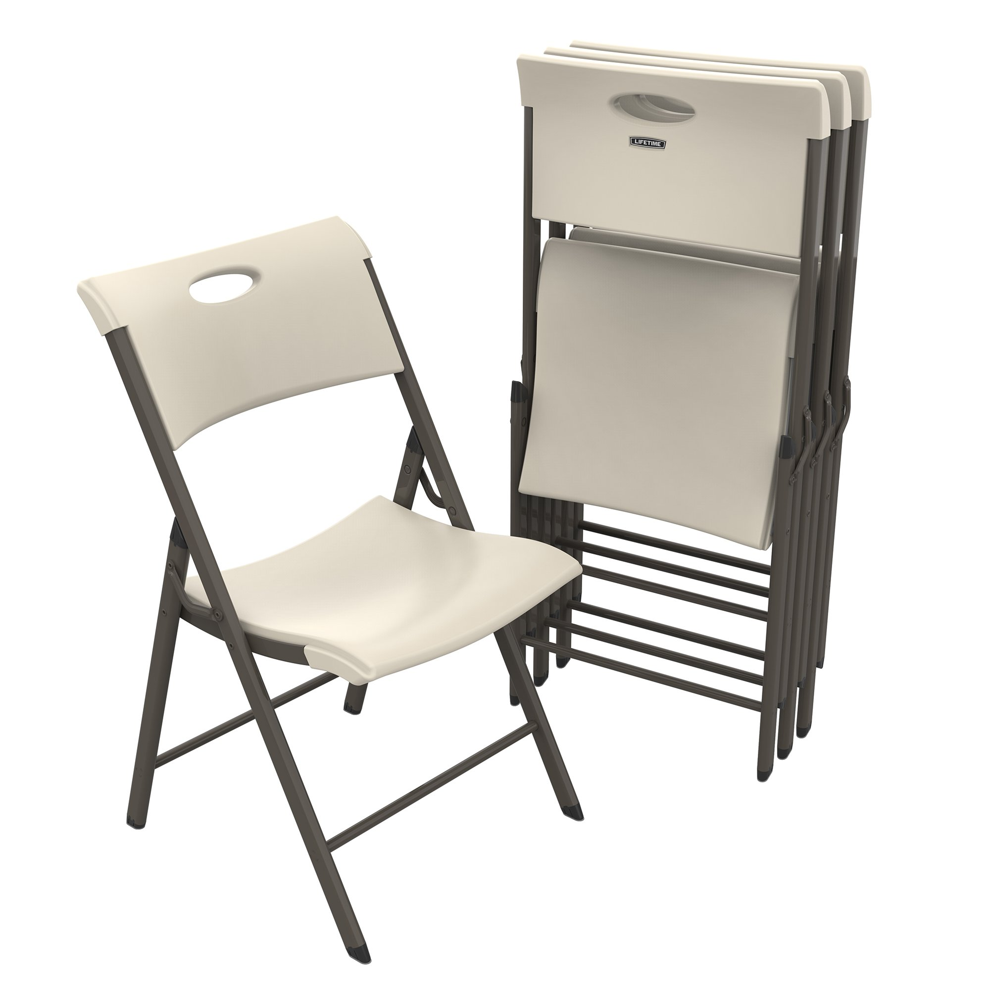 Lifetime 480625 Commercial Folding Chair, Almond
