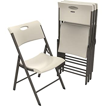 Amazon.com: Lifetime 42810 Light Commercial Folding Chair ...