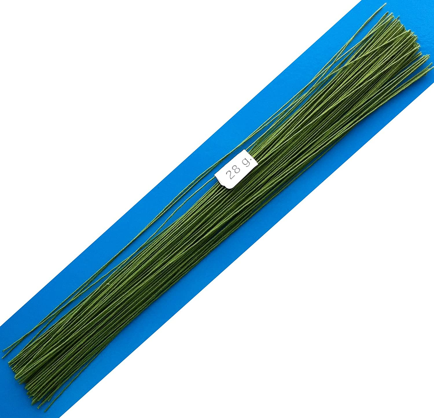 Amazon.com: 28 Gauge Green Cotton Covered Floral Wire - 100 feet per ...