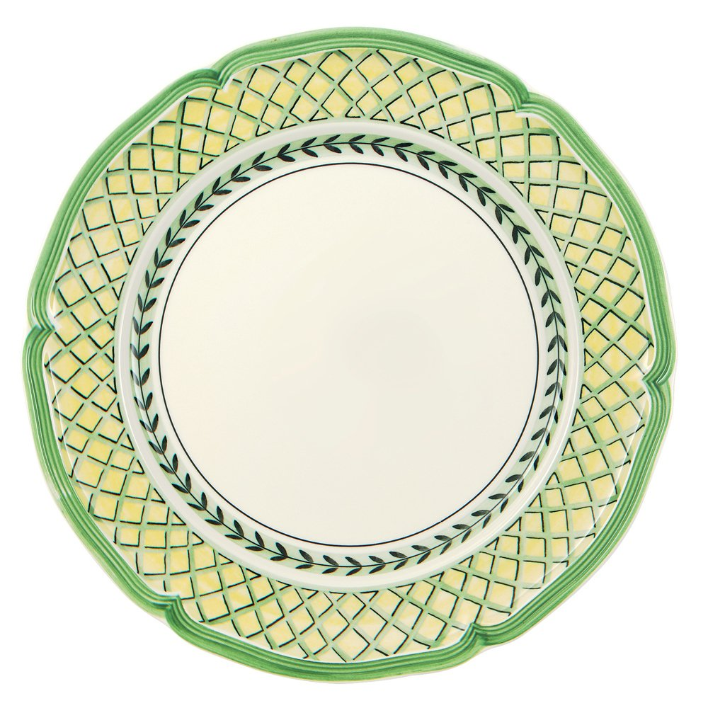 French Garden Orange Dinner Plate Set of 6 by Villeroy & Boch - Premium Porcelain - Made in Germany - Dishwasher and Microwave Safe - 10.25 Inches