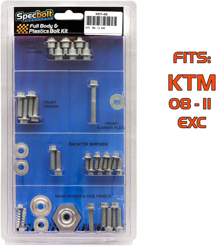 SPECBOLT KKM-48 Full Plastics Body Bolt Kit that fits KTM 2008-2011 EXC MODELS