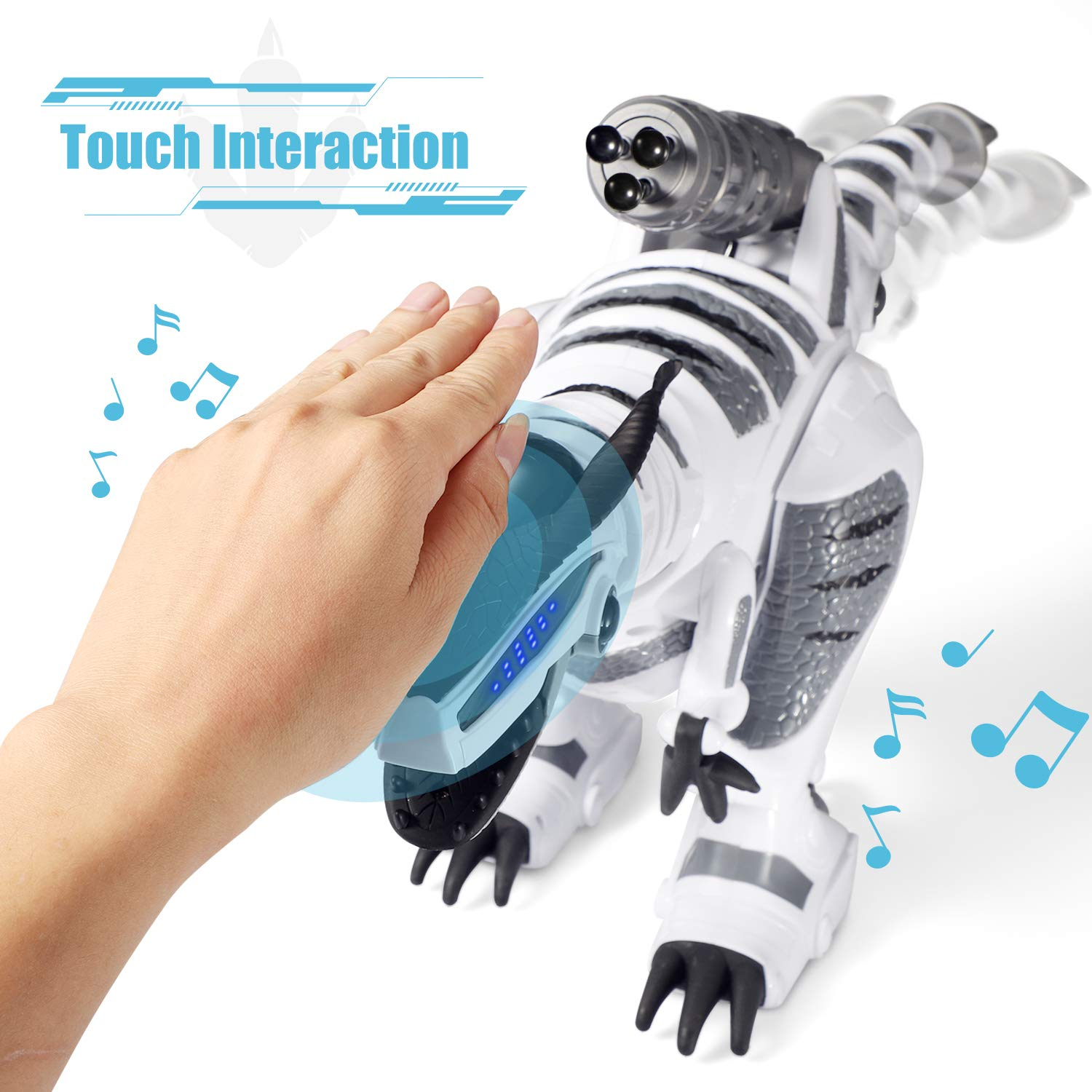 SGILE RC Dinosaur Robot Toy, Smart Programmable Interactive Walk Sing Dance for Kids Gift Present by SGILE (Image #2)
