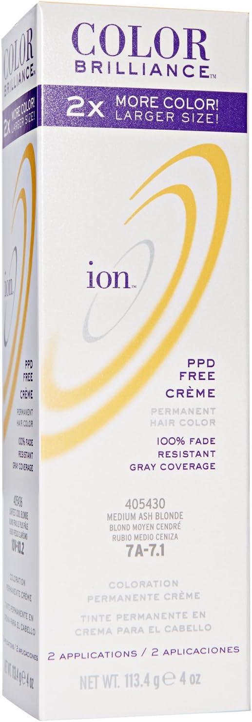 ion Color Brilliance Permanent Creme Hair Color 7A Medium Ash ...