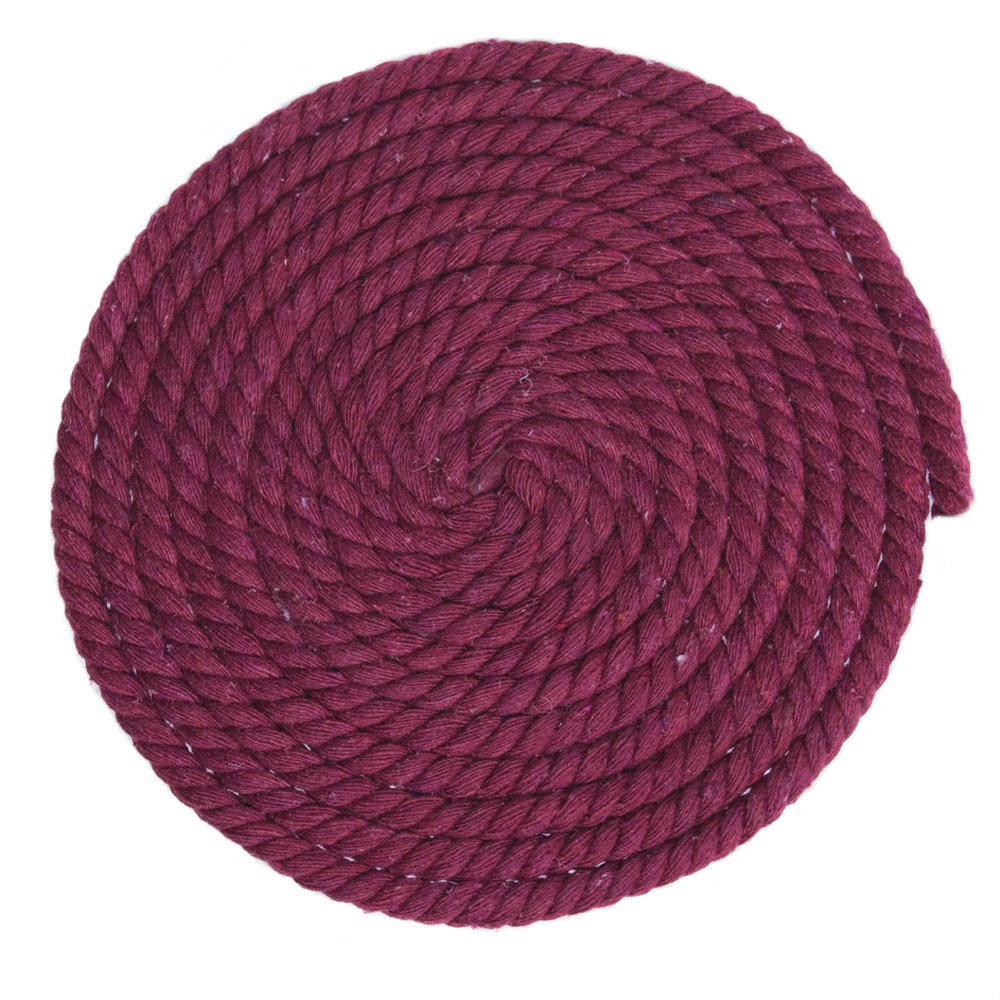 Wine Red, 1//4 Inch Diameter X 100 Feet Great for Home Decoration and Much More Custom Art Super Soft 3 Strand Twisted Cotton Rope DIY Crafting