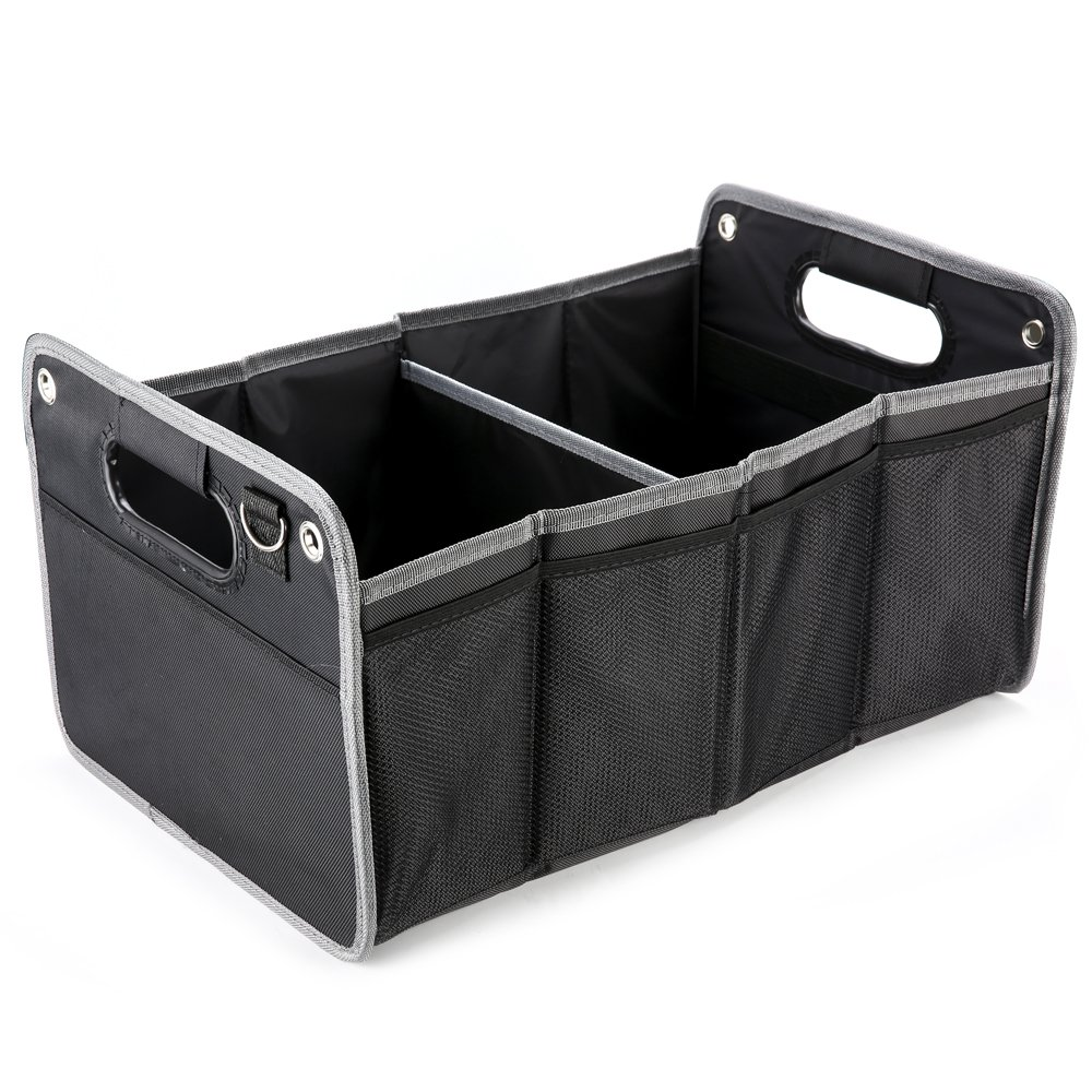 Nikauto Car Truck Storage Organizer Carrier Foldable Cargo Trunk Organizer Washable Case Waterproof Storage Containers Heavy Duty Large Capacity Collapsible Box Durable Packing Bin for SUV Truck