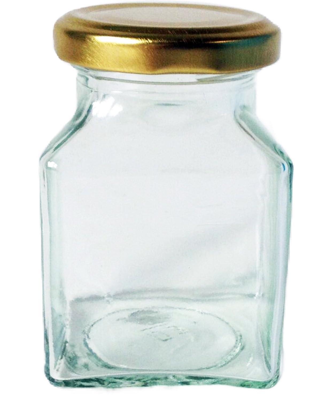 200 ml vasi di Nutley Vaso, esagonali, con Cappucci Color Oro, con 24 Pezzi Nutley' s
