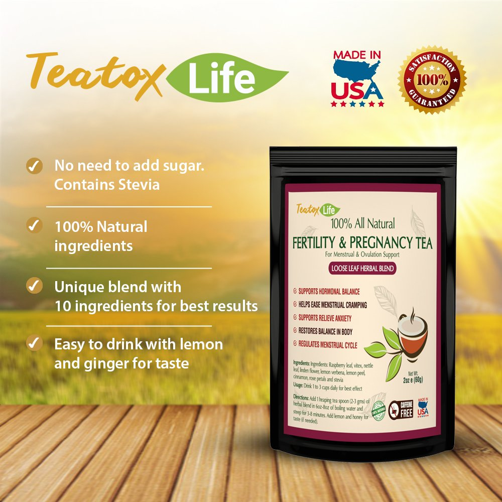 Red Raspberry Leaf Tea, Rasberry Leaf Fertility Pregnancy Tea for Women for  Labor and delivery Uterus