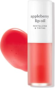 NOONI Appleberry Lip Oil - Gorgeous Red Tint Lip Oil, Lip Moisturizer and Lip Treatment That Is Great For Women, The Perfect