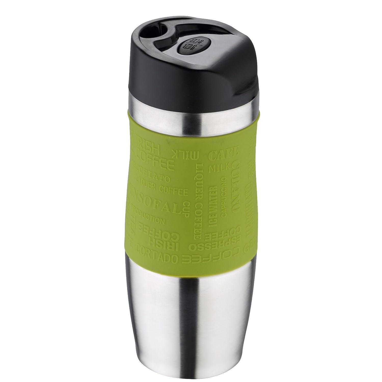 Bergner Travel Vacuum Travel Mug, Olive/Silver, 400 ml BG-5958-OL