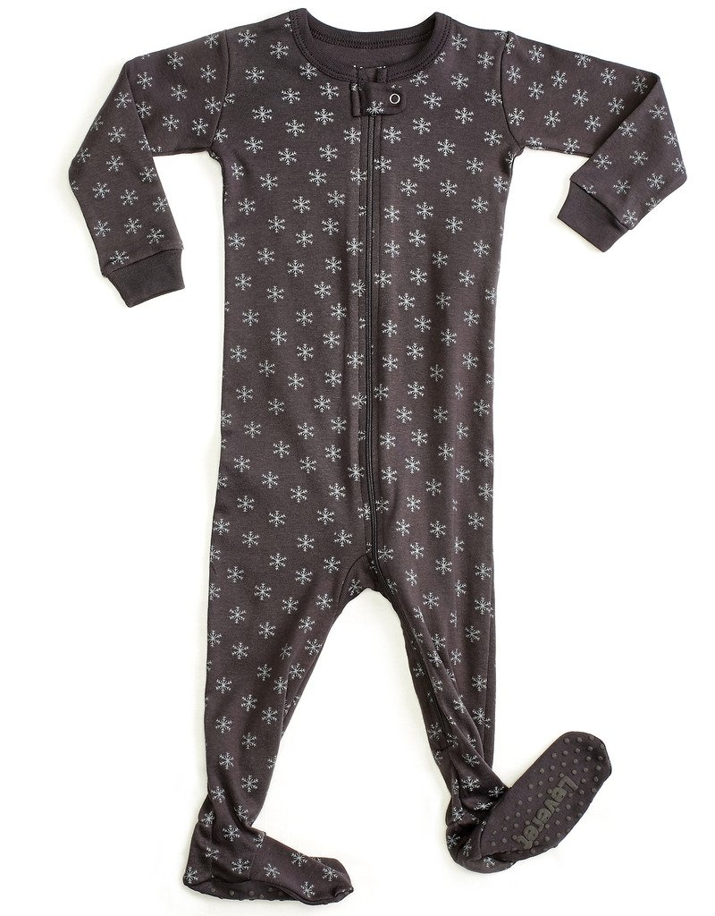 Leveret Organic Cotton Snowflake Footed Sleeper