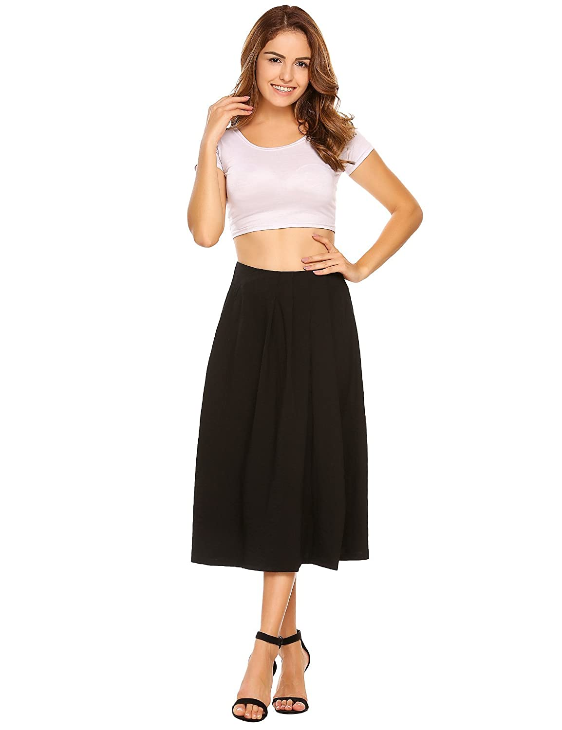 Black Next Skirt Pleated Size 10 Reputation First Skirts Women's Clothing
