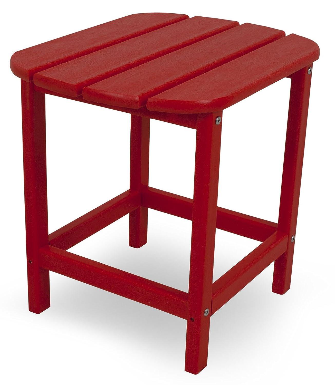 CASA BRUNO South Beach Beistelltisch aus recyceltem Polywood® HDPE Kunststoff, rot - kompromisslos wetterfest