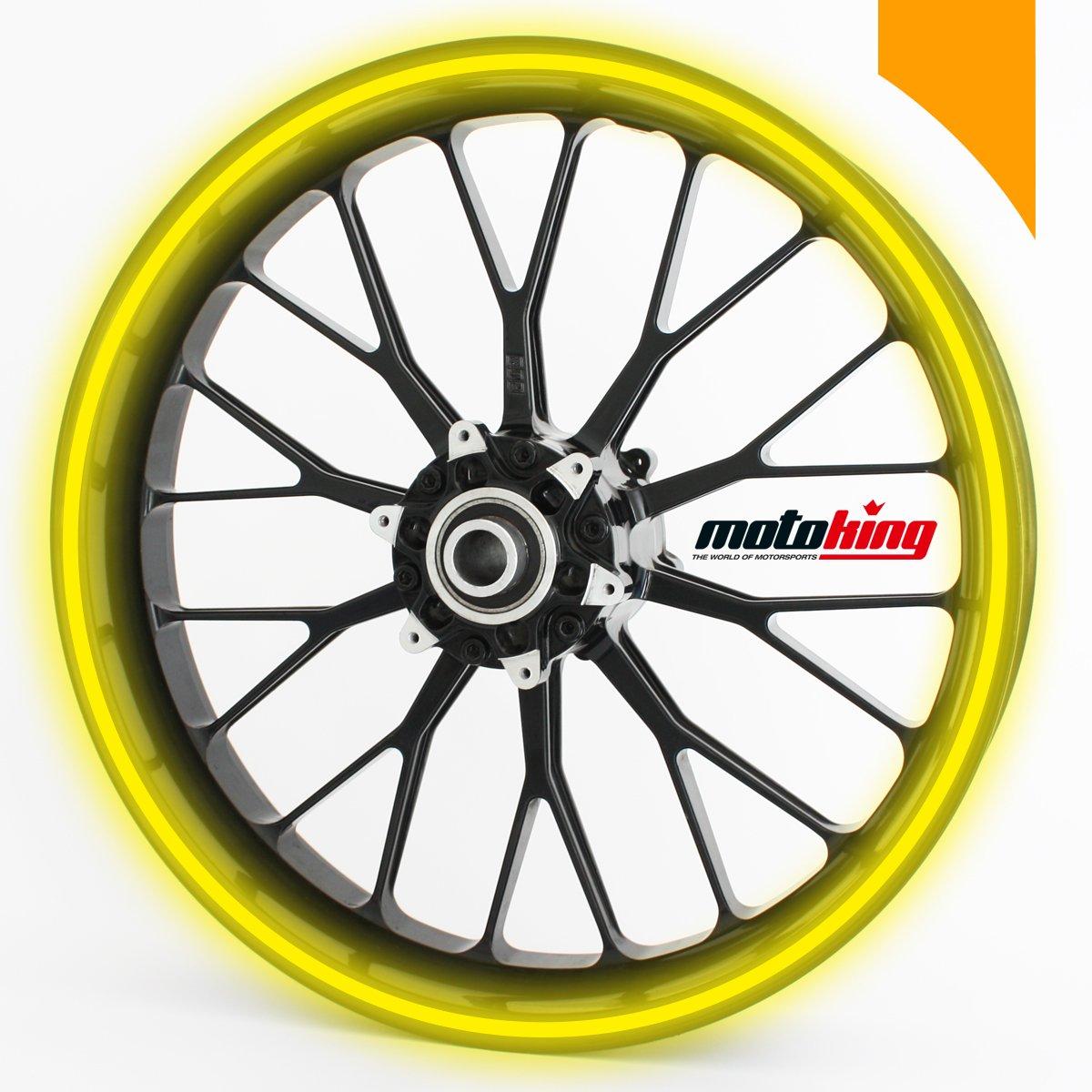 Adhesivos Motoking para llantas 360 °, colores reflectantes/rueda completa/desde 15 hasta 18/color y ancho opcionales Wandkings