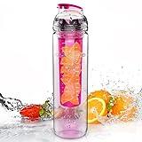 Trinkflasche für Fruchtschorlen, 800ml, Tritan, BPA-frei