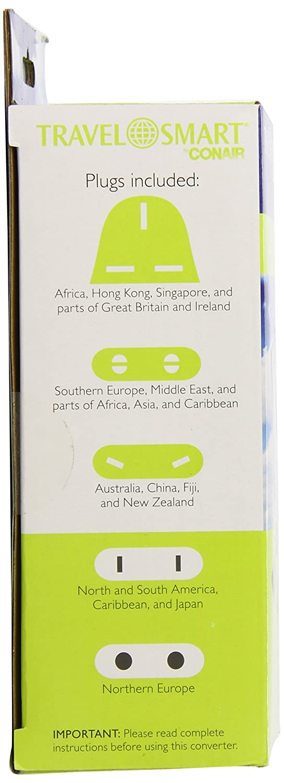 Travel Smart by Conair 2000-Watt Auto Adjust Smart Converter Set PS200E GB1696-DBA