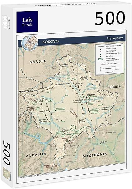 Lais Puzzle Physische Landkarte Kosovo 500 Teile Amazon De Spielzeug