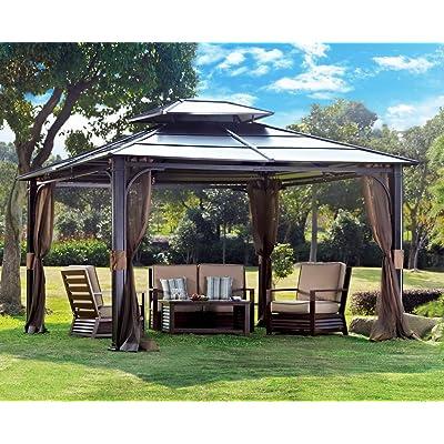 sunjoy 10 x 12 Chatham Steel Hardtop Gazebo : Garden & Outdoor