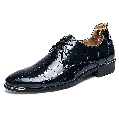 QLVY Mokassins Herren Leder Oxford Kleid Schuhe Klassisch Halbschuhe Formelle Bequem Schuhe Schwarz 41 AkkQZs