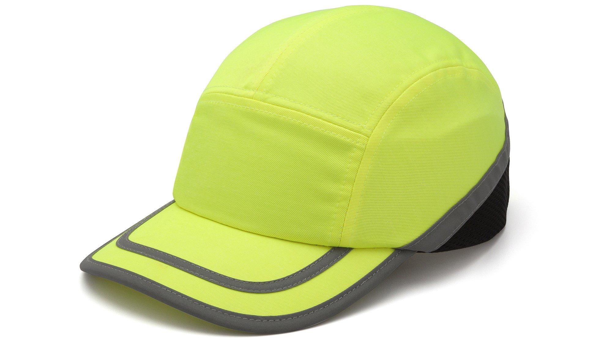 Pyramex HP50031 Hi Vis Lime Baseball Bump Cap, (12 Each)