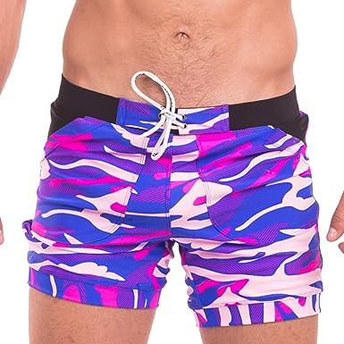 estilo calzoncillo Short corto para hombre Taddle con estampado de playa para nataci/ón y surf
