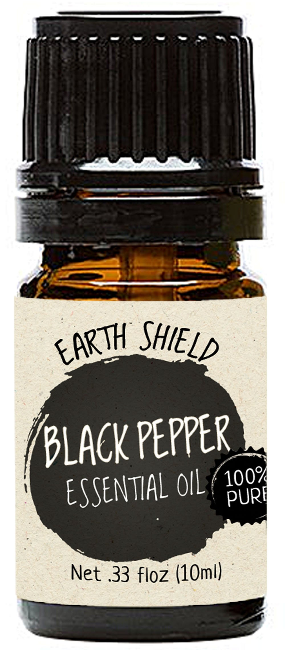 Earth Shield Black Pepper Essential Oil is 100% Pure and Therapeutic Grade - 10ml.