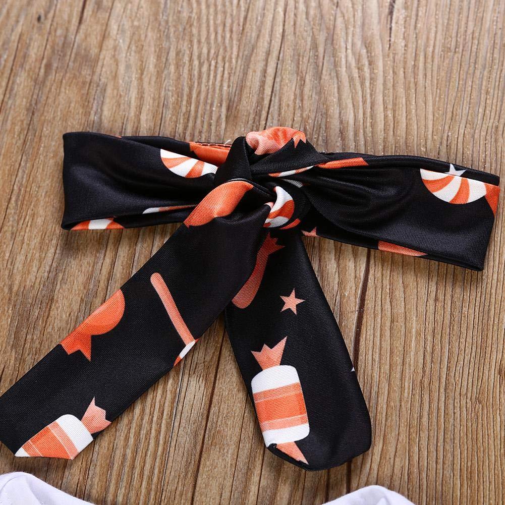 Baby 4pcs//Set Cute Letters Romper Pants Hat Headband Halloween Outfits