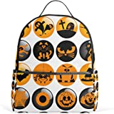JSTEL Halloween Icons School Backpack 4th 5th 6th Grade for Boys Teen Girls  Kids abba987366647