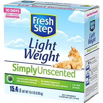 Fresh Step Simply - Arena para Gatos sin Perfume, 50 Lbs: Amazon ...