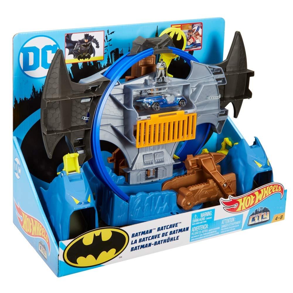 1bda92f4079d Amazon.com  Hot Wheels City Batman Batcave Track Set